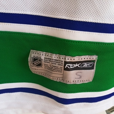 NEW Signed Vancouver Canucks NHL Ice Hockey Jersey (S)
