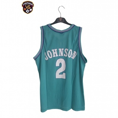 "Charlotte Hornets NBA Jersey #2 Larry Johnson (XXL) ""Good"""