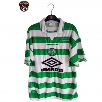 "Celtic Glasgow FC Home Shirt 1997-1998 Champions (M) ""Very Good"""