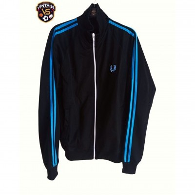 "Fred Perry Jacket Track Top Black Blue (M) ""Good"""