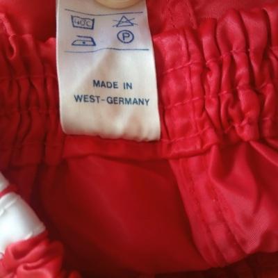 NEW Vintage Shorts Adidas 1980s Red Beckenbauer (152)