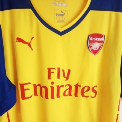 "Arsenal FC Away Shirt 2014-2015 (XL) ""Perfect"""