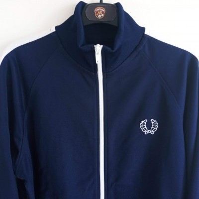 "Fred Perry Jacket Track Top Blue White (L Youths) ""Perfect"""