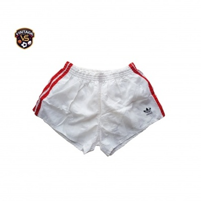 "Vintage Shorts Adidas 1980s White Red (M) ""Very Good"""