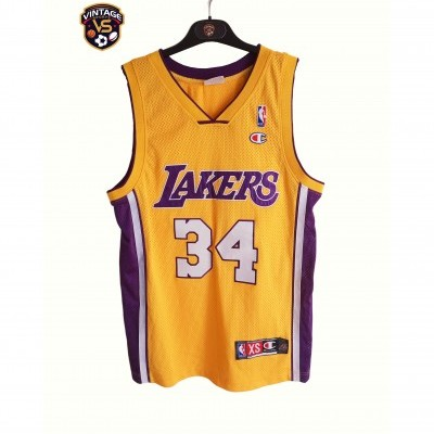 "LA Los Angeles Lakers NBA Jersey Shirt #34 O'Neal (XS) ""Very Good"""