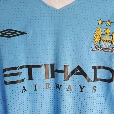 """Retro Manchester City Home Shirt 2011-2012 (L) """"Very Good"""""""