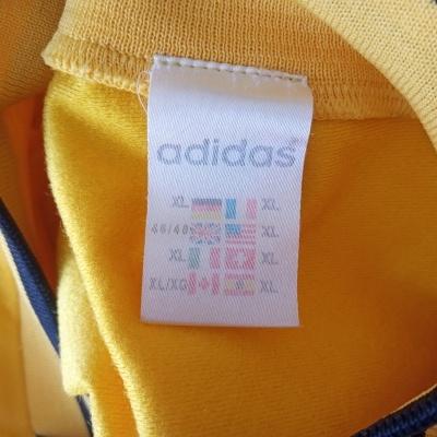 "Vintage Adidas Football Long Sleeve Shirt Yellow (XL) ""Very Good"""