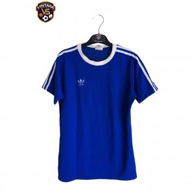 "Vintage Adidas Football Shirt Blue White West Germany (M) ""Good"""