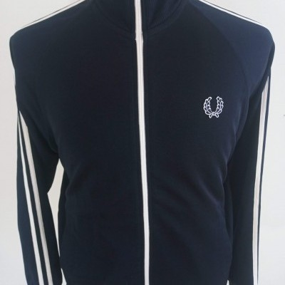 "Fred Perry Jacket Track Top Black White (M) ""Very Good"""