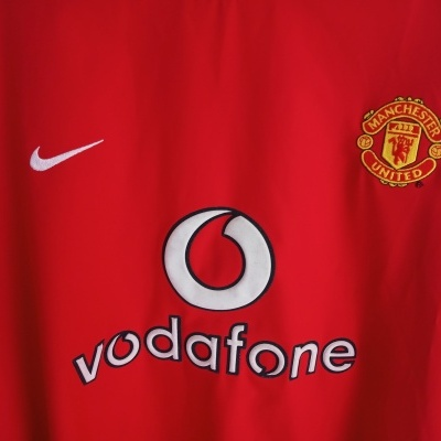 """Manchester United Home Shirt L/S 2002-2004 (XXL) """"Perfect"""""""