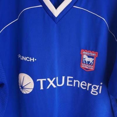 """Ipswich Town FC Home Shirt 2001-2003 (XL) """"Very Good"""""""