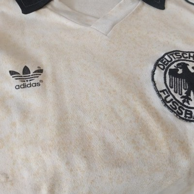 "Matchworn West Germany Home Shirt 1983 #4 (L) ""Good"""