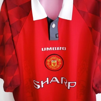 "Manchester United Home Shirt 1996-1997 (XXL) ""Very Good"""