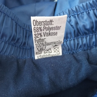 """Vintage Shorts Wunsch & Rudolph 1980s Blue (L) """"Very Good"""""""