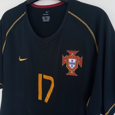 "Portugal Away Shirt 2006-2008 #17 Ronaldo (M) ""Good"""