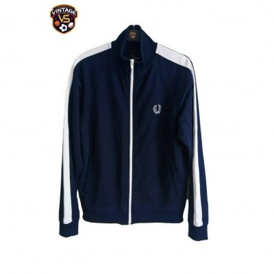 "Fred Perry Track Top Jacket Blue White (L Youths) ""Very Good"""