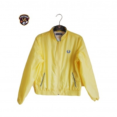"Fred Perry Track Top Jacket Yellow (36 Womens) ""Very Good"""