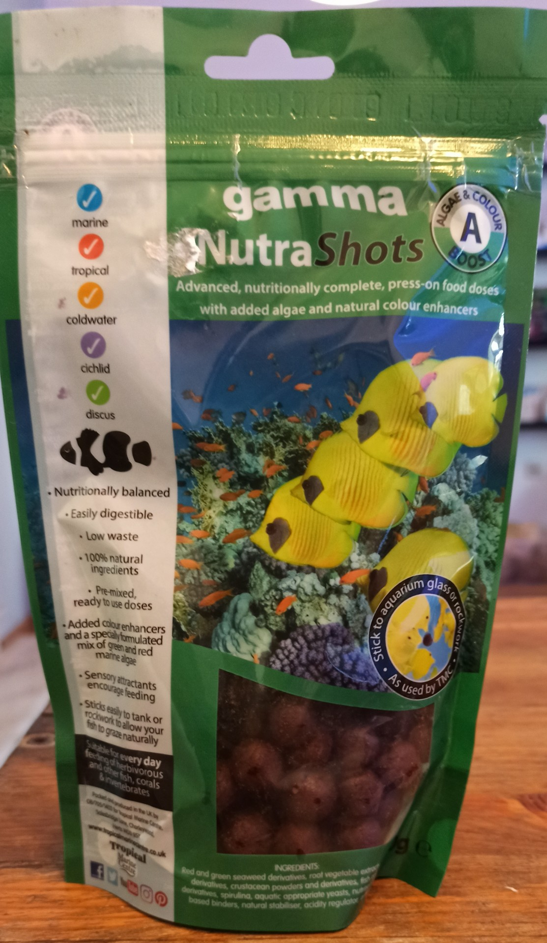 Gamma Nutra Shots A - Algae & Color Boost - 100g