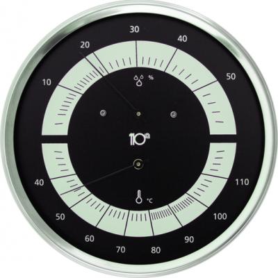 Termohigrómetro Inox Preto