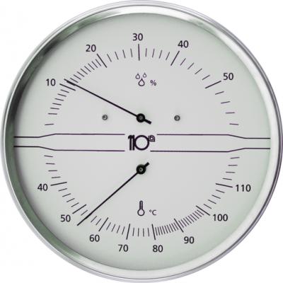 Termohigrómetro Inox Branco
