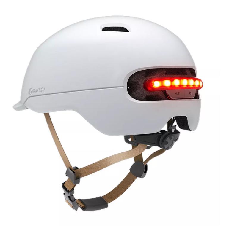 XIAOMI Capacete inteligente Smart4u SH50 com luz traseira LED - Branco