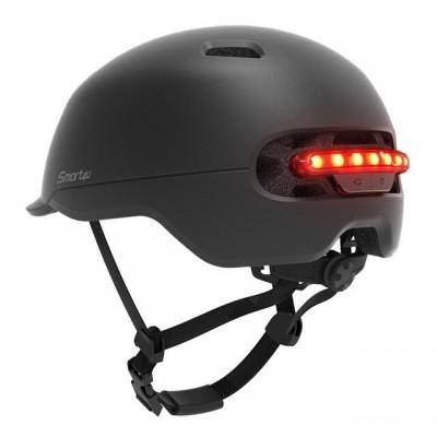 XIAOMI Capacete inteligente Smart4u SH50 com luz traseira LED - Preto