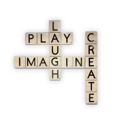 Wood Scrabble personalizável