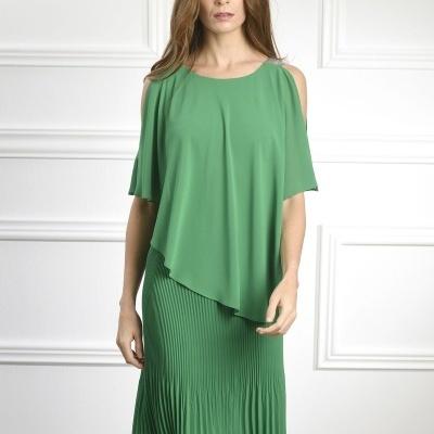 Vestido Plissado Capa 401990