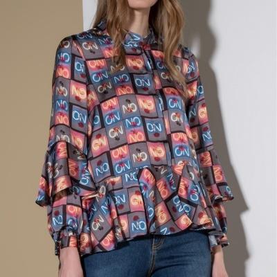 Blusa Estampada com Folho 100662