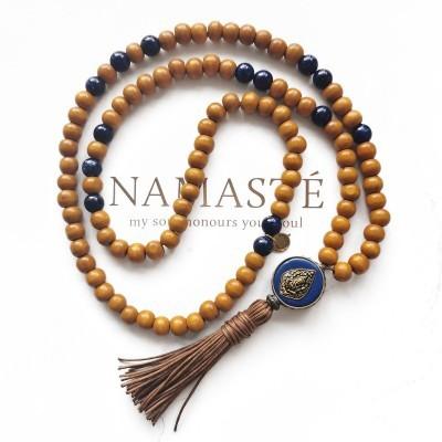 Japamala Ganesha fio castanho