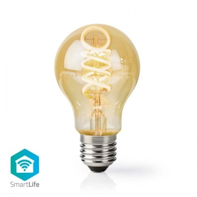 Nedis   Lâmpada de filamento LED SmartLife   Wi-Fi   E27   800 lm   9 W   Branco Quente/Branco Frio   1800 K - 6500 K   Cristal   A+   Android ™ e iOS   Diâmetro: 60 mm   A60