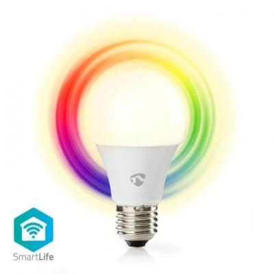 Nedis   Lâmpada Smartlife em cores   Wi-Fi   E27   470 lm   6 W   Branco Quente / RGB   2700 K   Android ™ e iOS   Diâmetro: 60 mm   A60