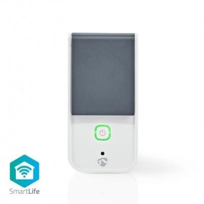 Nedis   Tomada inteligente Wi-Fi  IP44  Medidor de potência  3680 W  Plugue com contato de aterramento / Tipo F (CEE 7/7)  -30 - 40 ° C  Android ™ e iOS  Branco cinzento