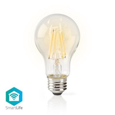 Nedis   Lâmpada de filamento LED SmartLife   Wi-Fi   E27   500 lm   5 W   Branco Quente   2700 K   Crystal   Android ™ e iOS   Diâmetro: 60 mm   A60