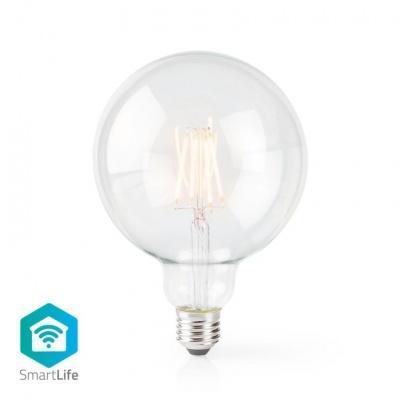 Nedis   Lâmpada de filamento LED SmartLife   Wi-Fi   E27   500 lm   5 W   Branco Quente   2700 K   Crystal   Android ™ e iOS   Diâmetro: 125 mm   G125