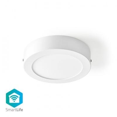 Nedis   Luz de teto   Wi-Fi   Branco Frio / Branco Quente   Rodada   Diâmetro: 170 mm   17 x 17 x 3,8 cm   800 lm   2700 - 6500 K   IP20   Classe energética: A   Android ™ e iOS