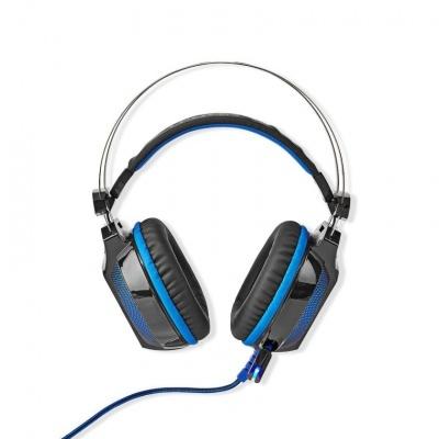 Nedis | Auscultadores Gaming WRADRIN | Surround 7.1| USB Type-A | Microfone Dobrável & Retráctil| 2.10 m | Iluminação Normal