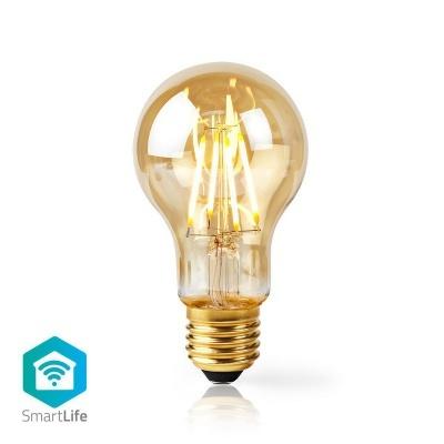 Nedis   Lâmpada de filamento LED SmartLife   Wi-Fi   E27   500 lm   5 W   Branco Quente   2200 K   Crystal   Android ™ e iOS   Diâmetro: 60 mm   A60