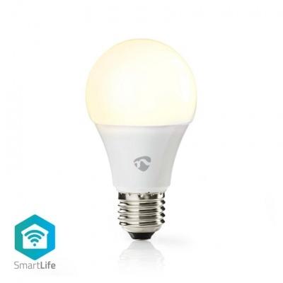 Nedis   Lâmpada LED SmartLife   Wi-Fi   E27   800 lm   9 W   Branco Quente   2700 K   A +   Android ™ e iOS   Diâmetro: 60 mm   A60