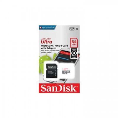 Sandisk | Cartão de Memória Ultra Micro SDXC 64GB