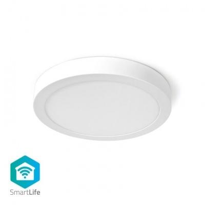 Nedis   Luz de teto   Wi-Fi   Branco Frio / Branco Quente   Rodada   Diâmetro: 300 mm   30 x 30 x 3,8 cm   1200 lm   2700 - 6500 K   IP20   Classe energética: A   Android ™ e iOS