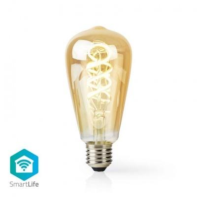 Nedis   Lâmpada de filamento LED SmartLife   Wi-Fi   E27   350 lm   5,5 W   Branco Quente / Branco Frio   1800 - 6500 K   Crystal   Android ™ e iOS   Diâmetro: 64 mm   ST64