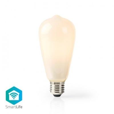 Nedis   Lâmpada de filamento LED SmartLife   Wi-Fi   E27   500 lm   5 W   Blanco Cálido   2700 K   Cristal   Android™ & iOS   Diámetro: 64 mm   ST64