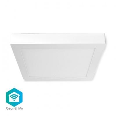 Nedis   Luz de teto   Wi-Fi   Branco Frio / RGB / Branco Quente   Square   30 x 30 x 3,8 cm   1400 lm   2700 - 6500 K   IP20   Classe energética: A   Android ™ e iOS