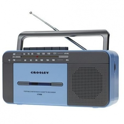 Crosley | Leitor gravador de cassetes + Rádio
