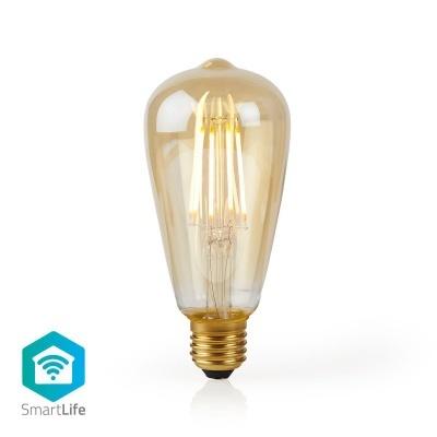 Nedis   Lâmpada de filamento LED smartlife   Wi-Fi   E27   500 lm   5 W   Branco Quente   2200 K   Crystal   Android ™ e iOS   Diâmetro: 64 mm   ST64