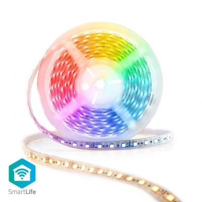 SmartLife Full Color tira LED Wi-Fi   Branco Frio / RGB / Branco Quente   5000 mm   IP65   2700 - 6500 K   405 lm   Android ™ / IOS