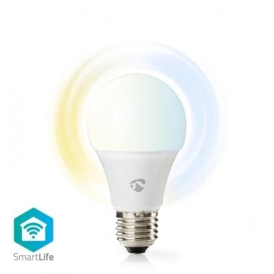 Nedis   Lâmpada LED SmartLife   Wi-Fi   E27   800 lm   9 W   Branco Quente / Branco Frio   2700 - 6500 K   A+   Android ™ e iOS   Diâmetro: 60 mm   A60