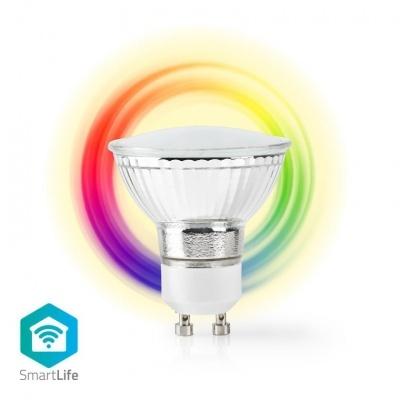Nedis   Lâmpada Smartlife em cores   Wi-Fi   GU10   330 lm   5 W   Branco Quente / RGB   2700 K   Android ™ e iOS   Diâmetro: 50 mm   PAR16