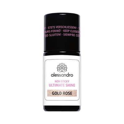 Gel Ultimate Shine Non Sticky with Glitter Gold Rose 7,5ml